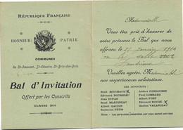 17 ST SAUVANT ST CESAIRE ST BRIS DES BOIS BAL DES CONSCRITS CLASSE 1914 - Unclassified