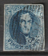 Belgie 1851 Leopold. Yvert 7A Dik Papier, Watermerk Zonder Kader - 1851-1857 Medallones (6/8)