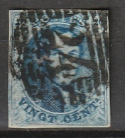 Belgie 1851 Leopold. Yvert 7 - 1851-1857 Medallones (6/8)