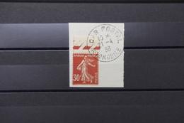 """FRANCE - Oblitération """" Car Postal  Automobile """" Sur Type Semeuse Sur Fragment En 1938 - L 89048 - 1921-1960: Période Moderne"""