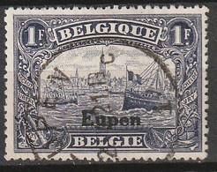 Belgie 1920 BZ97 Bezetting Eupen 1 Fr Violet Gestempeld, Oblitéré - [OC55/105] Eupen/Malmédy