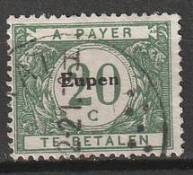 Belgie 1920 BZ103 Bezetting Eupen Strafport 20 C Gestempeld, Oblitéré - [OC55/105] Eupen/Malmedy
