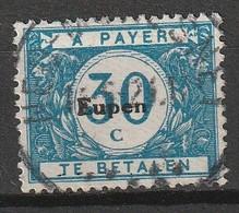 Belgie 1920 BZ104 Bezetting Eupen Strafport 30 C Gestempeld, Oblitéré - [OC55/105] Eupen/Malmedy