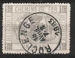 """Belgie 1879-1882 SP6/TR6 1 Fr Zonder Gaatjes. Obl """"ROCLENGE"""". Prachtig Gestempeld. Luxe. - Used"""