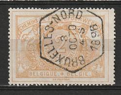 """Belgie 1882-1894 SP14/TR14 2 Franc, Bien Centré Et Obl Concours Hexagonale """"BRUXELLES-NORD"""". Prachtig Gestempeld. Luxe. - Used"""