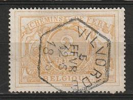 """Belgie 1882-1894 SP14/TR14 2 Franc, Bien Centré Et Obl Concours Hexagonale """"VILVORDE"""". Prachtig Gestempeld. Luxe.  Cat - Used"""