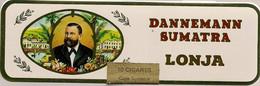 BOITE METALLIQUE VIDE  DE 10  CIGARS LONJA  *  MARQUE  DANNEMANN  SUMATRA LONJA - Cigar Cases