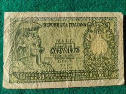 Italia  50 Lire 1951 - 50 Liras