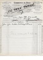 54 - Meurthe-et-moselle - NANCY - Facture PELTIER - Commerce De Bois, Placages Sciés Et Tranchés - 1901 - REF 180B - 1900 – 1949