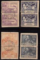 Trengganu Used Pair On Piece 1949, Set Of 4, UPU. U.P.U. Universal Postal Union, Malaysia / Malaya - Trengganu
