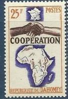 Dahomey, 1964, Cooperation, Map, MNH, Michel 241 - Benin – Dahomey (1960-...)