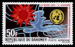 Dahomey, 1965, World Meteorological Day, WMO, OMM, United Nations, MNH, Michel 246 - Benin – Dahomey (1960-...)