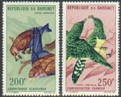Dahomey, 1967, Birds, Animals, MNH, Michel 296-297 - Benin – Dahomey (1960-...)