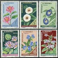 Dahomey, 1967, Flowers, Flora, MNH, Michel 298-303 - Benin – Dahomey (1960-...)