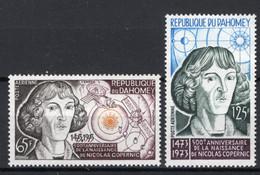 Dahomey, 1973, Copernicus, Astronomy, Space, MNH, Michel 527-528 - Benin – Dahomey (1960-...)