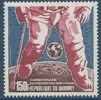 Dahomey, 1974, Space, Moon Landing, Globe, MNH, Michel 565 - Benin – Dahomey (1960-...)