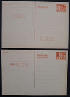 DDR 2 Ganzsachen P86I Und P87I Ungelaufen, Ohne Druckvermerk, Kleine Bautwerke (2094) - Postales - Nuevos