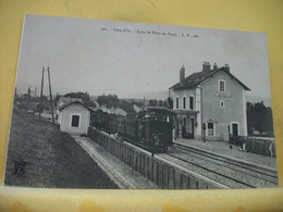 21 7047 CPA 1909 - 21 GARE DE PONT DE PANY - ANIMATION. TRAIN EN GARE. - Altri Comuni