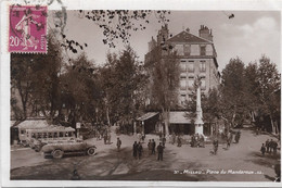 $ CARTE GLACEE $ 12 - MILLAU Place Du Mandaroux Animée écrite Timbrée - Millau
