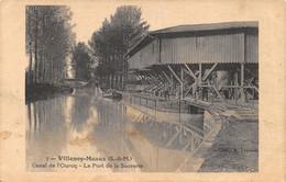 77-VILLENOY-CANAL DE L OURCQ-LA SUCRERIE-N°T2412-G/0251 - Villenoy