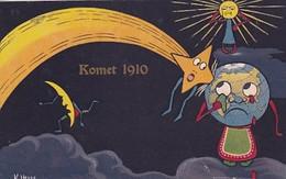 Der Komet 1910 - Signiert - Lustiger Spruch    (A-301-200914) - Astronomie