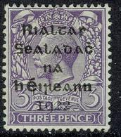 EIRE IRELAND 1922 3d Bluish Violet SG 5 Mounted Mint - Unused Stamps