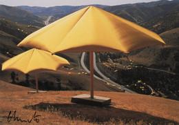 CPM DEDICACEE PAR CHRISTO - THE UMBRELLAS JAPAN-USA - 1984-1991 - CALIFORNIA SITE - Otros