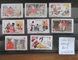 France 2016 Adhesifs Oblitérés Serie 1270 à 1277 Croix Rouge - Luchtpost