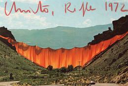 CPM DEDICACEE PAR CHRISTO - VALLEY CURTAIN 1970-72 - GRAND HOGBACK - RIFLE - COLORADO - USA - Autres