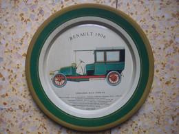 Assiette En Fer Avec Pour Motif La Renault 1906 - Coches
