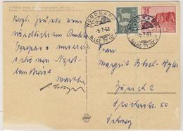 Norwegen - 35 Ö. Nordkap U.a., Karte I.d. SCHWEIZ, Nordkap - Zürich 1963 - Postwaardestukken