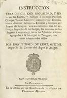 1797. INSTRUCCION PARA DIRIGIR CON SEGURIDAD Y SIN ATRASO LAS CARTAS Y PLIEGOS A TODOS LOS PUEBLOS, GRANJAS, VENTAS, CAS - Unclassified