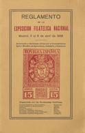 1936. REGLAMENTO DE LA EXPOSICION FILATELICA INTERNACIONAL DE MADRID DEL 2 AL 6 DE ABRIL DE 1936. Miguel Gálvez. Madrid, - Zonder Classificatie