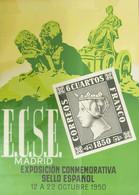 1950. Precioso Cartel Publicitario De La EXPOSICION CONMEMORATIVA DEL SELLO ESPAÑOL, Celebrada En Madrid Del 12 Al 22 De - Zonder Classificatie
