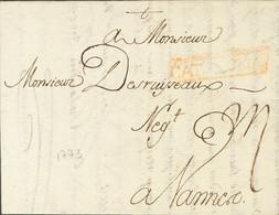 Sobre . 1773. BARCELONA A VANNES (FRANCIA). Marca CATALVÑA, En Rojo (P.E.42) Edición 2004 (37 Mm). MAGNIFICA Y RARISIMA. - Unclassified