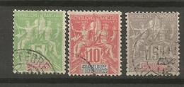 Timbre De Colonies Française Guadeloupe Oblitéré N 40 / 42 - Used Stamps