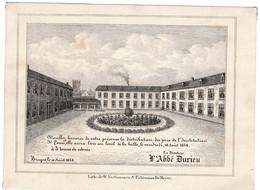 L'Abbé Durieu Directeur De L'Institution St. LOUIS BRUGES 1848 Geen Porseleinkaart Litho. Vertommen  17,5 X13 Cm - Porcelana