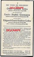 Oorlog Guerre Leleu Goemare Wervik GESNEUVELD Bombardement Te Wervicq 25 Mei 1940 Zandvoorde Ieper - Devotieprenten