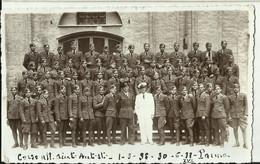 PARMA: 1938 FOTO MILITARE CORSO AUTISTI CON FIRME AL RETRO. RIF.152 - Documentos