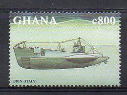 WWII Regia Marina (Italian Navy) BRIN-Class Submarine - (Ghana 1998) MNH (2W05114) - Submarines