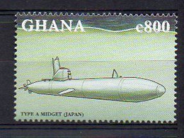 WWII Japanese Navy Type A Midget Ko-hyoteki Submarine - (Ghana 1998) MNH (2W05116) - Submarines