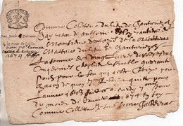 48 LOZERE DOCUMENT TAXE IMPOTS - Historical Documents