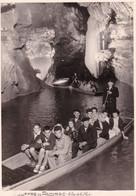 Photo Originale : Lot : Gouffre De Padirac - Le Lac De La Pluie : Femmes Et Hommes Dans Une Barque : 24cm X 17cm - Orte