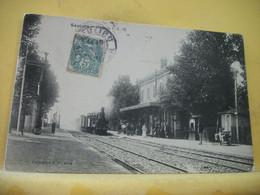 21 7067 CPA 1905 - 21 SAULIEU. LA GARE P.L.M. - ANIMATION. TRAIN RENTRANT EN GARE. - Saulieu