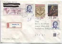 Tschechoslowakei # 3003-4, 3073 U.a. Prager Burg Grabdenkmal Veitsdom, Wenzel Lorenz Reiner + Tag Der Briefmarke - Cartas