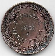 Sainte Hélène - Half Penny 1821 - Saint Helena Island