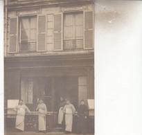 SANNOIS   CARTE PHOTO BOUCHERIE  CLICHE  BLANC EDITEUR A SANNOIS - Shops