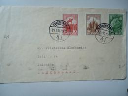 DENMARK     COVER   1956        POSTED   THESSALONIKI  2 SCAN - Non Classés