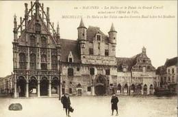 MALINES - MECHELEN - Les Halles Et Le Palais Du Grand Conseil - Mechelen