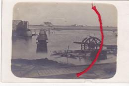 STUIVEKENSKERKE Diksmuide  Overstroming Aan De Kerk Duitse Fotokaart 1° W.O. - Diksmuide